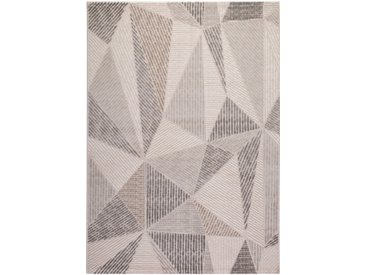 Tapis scandinave en polypropylène géométrique Svaneke Argenté 120x170