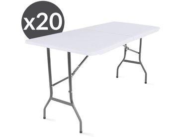 Lot de 20 tables pliantes 180 x 70 x 74 cm