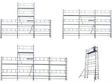Echafaudage Faitage Révolution 4 en 1 -01 Structure seule FR51-9