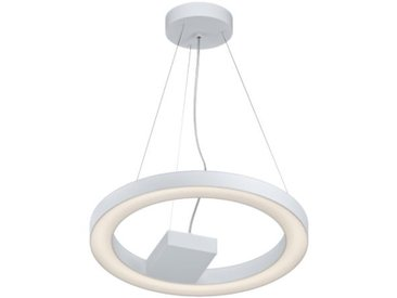 Suspension luminaire cuisine Alvendre LED D48 cm - Blanc - Blanc
