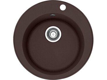 RONDO - Fragranit évier ROG 610-41 Chocolat, 510mm, cuve ronde (114.0284.083)