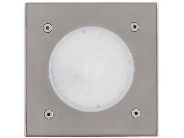 EGLO Projecteur encastrable LED dextérieur Lamedo 2,5 W Carré argenté