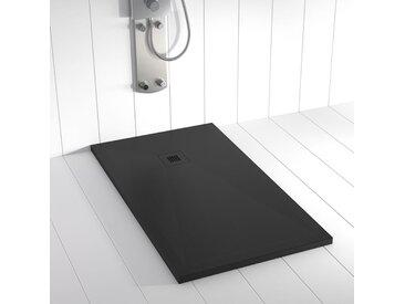 Receveur de douche Résine PLES Noir (grille colorée) - 140x90 cm