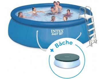 Pack Kit piscine autoportée Intex Easy Set 4,57 x 1,07 m + Bâche