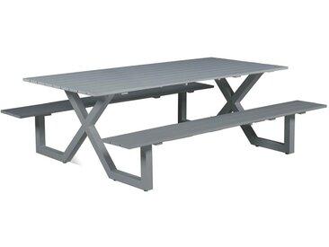 Garden Impressions - Table de pique-nique Napels - L210xW170xH71 - gris arctique