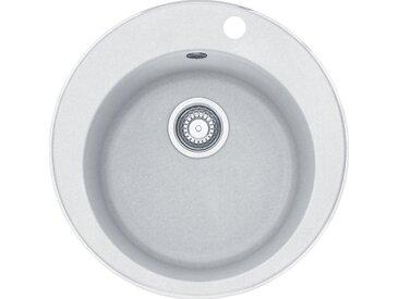 RONDO - Fragranit évier ROG 610-41 artic blanc , 510mm, cuve ronde (114.0284.726)