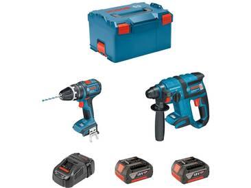 BOSCH Kit GBH 18V-EC + GSB 18V-21 (2 x 4,0Ah + GAL1880CV + L-Boxx 238)