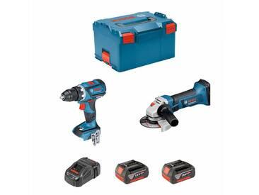 BOSCH Kit PSL2P2MC (GWS 18-125 V-LI + GSR 18V-60C + 2 x 5,0Ah + GAL1880CV + L-Boxx 238)