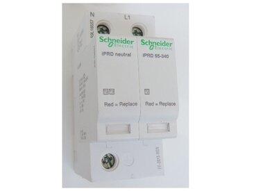 Parafoudre 65kA 1P+N type 2 avec report à distance 340V à cartouche débrochable iPRD65R Acti9 SCHNEIDER ELECTRIC A9L16557