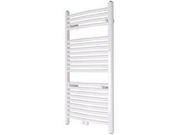 Radiateur Sèche-serviettes à Eau Chaude 1000x600mm Incurvé Blanc Porte-Serviettes Chauffant Design Moderne