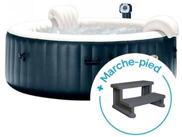 Spa gonflable Intex PureSpa Plus Bulles 4 personnes + Marche-pied