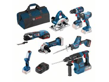 Kit de 8 outils professionnels BOSCH 18V 5.0 Ah - 0615990K9H