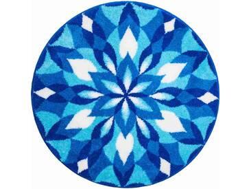 Tapis de salle de bain WINGS OF JOY bleu rond 80 cm / Couleur: Bleu / Référence: m2672-043001184