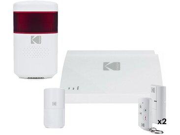 Pack Système d Alarme connecté KODAK SA101 & Sirène extérieure sans fil KODAK WOS801 (SA102)