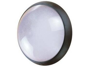 Hublot extérieur fluo 1X32W Ø 300mm noir verre avec lampe 4000K G24q-3 et ballast elec CL2 IK04 IP44 OPTION EBENOID 078083