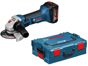 Meuleuse angulaire 18V sans fil GWS 18-125 V-LI Bosch Professional + 2 batteries lithium 4,0 Ah + chargeur