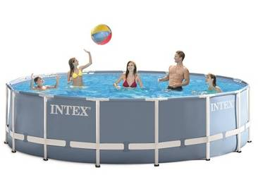 Piscine tubulaire ronde Intex Prism Frame 4,57 x 1,22 m - Coloris Bleu