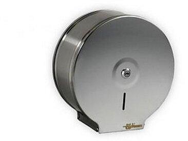 Distributeur Papier toilette Maxi Jumbo inox brossé serie MASTERLINE 254 x 120 x 262 mm / Couleur: Brossé mat / Référence: 343