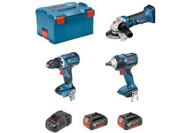 BOSCH Kit PSL3P2MC (GSR 18V-60C + GDS 18V-EC 250 + GWS 18-125 V-LI + 2 x 5,0Ah + GAL1880CV + L-Boxx 238)