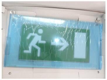 Plaque de signalisation plexiglas avec SORTIE flèche horizontale pour BAES ARCOR LEGRAND 060770
