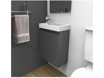 Meuble lave-mains L41 x H53 Gris LISA
