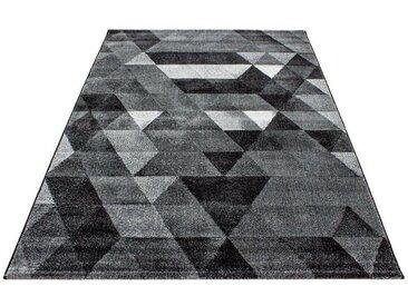 Tapis scandinave pour salon graphique Tikola Gris 200x290