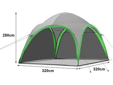 Tente de Camping Familiale Tente Ultra-légère Imperméable Isolation Thermique pour Voyage Randonnée 330 x 330 x 255 cm Vert