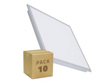 Pack Panneau LED Slim 60x60cm 36W 3100lm (UGR19) LIFUD (10 Un) Blanc Froid 5500K