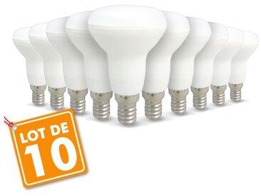 Lot de 10 ampoules LED E14 R50 6W 510Lm | Blanc chaud 2700K