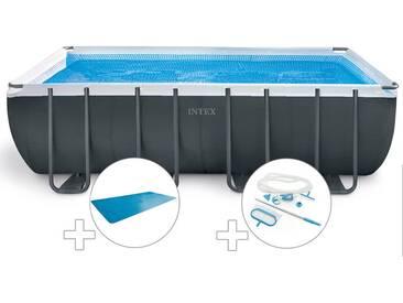 Kit piscine tubulaire Intex Ultra XTR Frame rectangulaire 5,49 x 2,74 x 1,32 m + Bâche à bulles + Kit dentretien