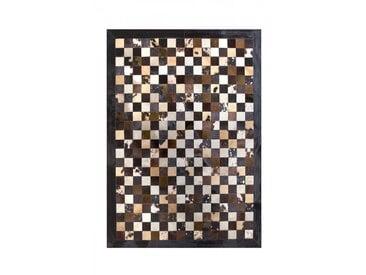 Tapis patchwork en peau de vache Ibiza Beige 120x180