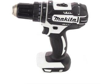 Makita DHP 482 SMTK W Perceuse-visseuse à percussion sans fil blanche 18 V + 1x Batterie 4,0 Ah, + Chargeur + Set d'outils de 101 pièces