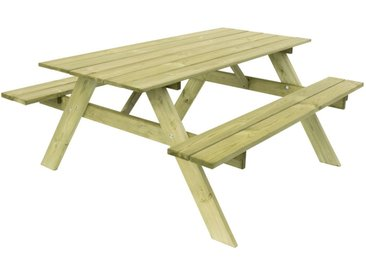 Table Pique-Nique Essential 165 Madera Natural 165x154x75 cm - KSU12894