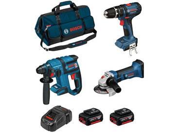 BOSCH Kit PSB3M3 (GBH 18 V-EC + GSB 18-2-LI Plus + GWS 18 V-LI + 2 x 4,0 Ah + GAL1880CV + HDBAG)