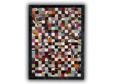 Tapis patchwork en peau de vache Ibiza Multicolore 180x240