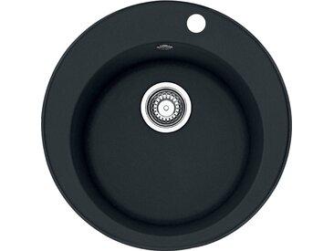 RONDO - Fragranit évier ROG 610-41 onyx, 510mm, cuve ronde (114.0283.879)