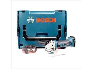Bosch GWS 18-125 V-LI 125 mm Professional Meuleuse angulaire sans fil avec boîtier L-Boxx + 1x Batterie GBA 5,0 Ah - sans Chargeur
