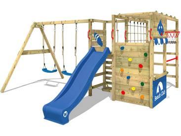 Aire de jeux WICKEY Smart Zone avec balançoire et toboggan, bleu