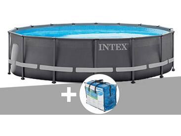 Kit piscine tubulaire Ultra Frame ronde 4,88 x 1,22 m + bâche à bulles OFFERTE - Intex
