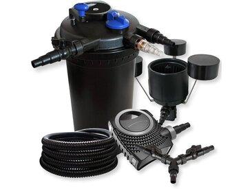 SunSun Kit filtration bassin à pression 30000l 18W UVC NEO10000 80W Pompe 25m Tuyau Skimmer CSP-250