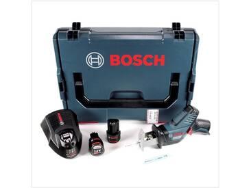 Bosch GSA 12V-14 Li-Ion Professional Scie sabre sans fil avec boîtier L-Boxx + 2x Batteries GBA 12 V 3,0 Ah + Chargeur GAL 1230