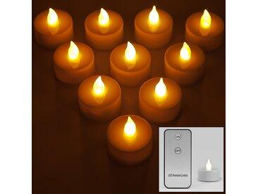 30x Bougies LED électriques Lumière scintillante Blanc chaud avec Télécommande