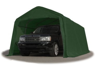 INTENT24 Tente-garage carport 3,3 x 9,6m d'élevage abri agricole tente de stockage bâche 550g/m² armature solide vert fonce