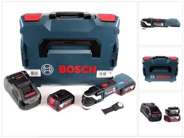 Bosch GOP 18 V-28 Professional Brushless Outil multifonctions découpeur-ponceur sans fil avec StarlockPlus + boîtier L-Boxx + 2x Batteries GBA 5,0 Ah + Chargeur GAL 1880 CV