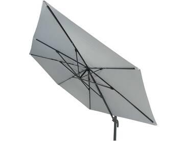 Parasol déporté en aluminium gris 300 x 400 cm Argos