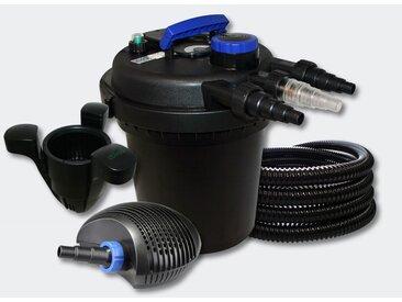 Kit filtration bassin à pression 6000l 11W UVC 40W Pompe Tuyau Skimmer