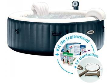 Spa gonflable Intex PureSpa Plus Bulles 6 personnes + Kit dentretien + Kit de traitement au brome