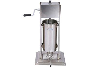 Poussoir à saucisse Machine de remplissage Capacité acier inoxydable de 7l pour la chair de saucisse
