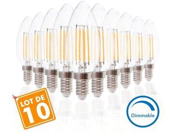 Lot de 10 Ampoules E14 4W COG Dimmable Blanc Chaud | Blanc chaud 2700K