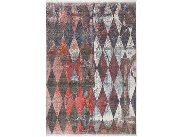 Tapis scandinave tissé polyester Rubico Multicolore 80x150